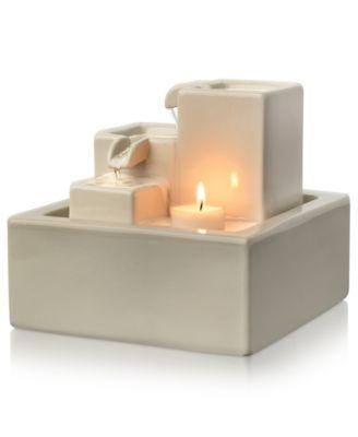 Homedics WF-SITY Relaxation Fountain, Simplicity Illuminated Ceramic