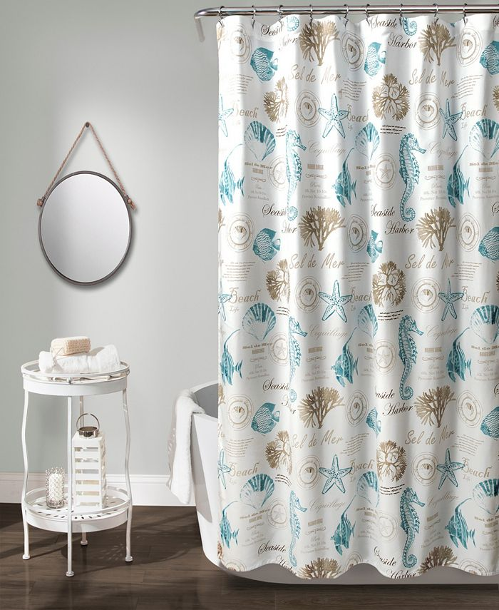 """Lush Décor - Harbor Life 72"""" x 72"""" Shower Curtain"""