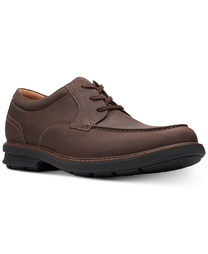 Clarks - Men's Rendell Walk Dark Brown Leather Casual Lace-Up Shoes