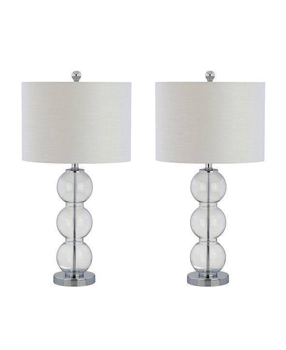 JONATHAN Y Bella Glass Triple-Sphere LED Table Lamp - Set of 2