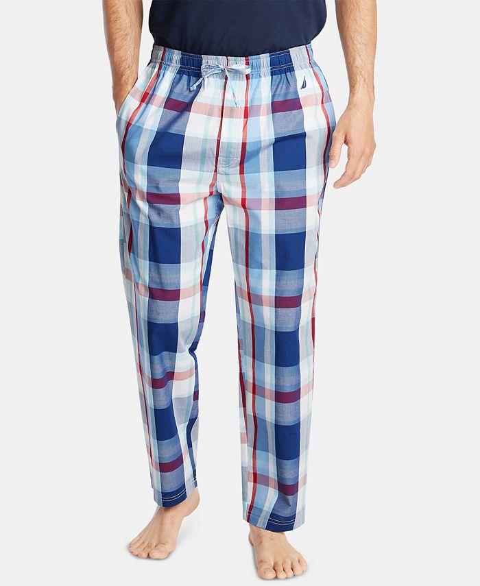 Nautica - Men's Cotton Plaid Pajama Pants