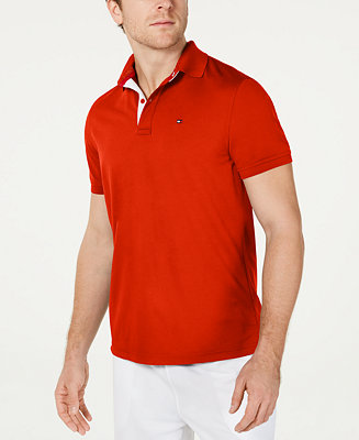 Tommy Hilfiger Men's Moisture Wicking Gibson Custom-Fit Polo ...