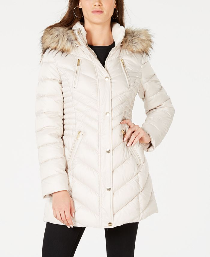 Laundry by Shelli Segal - Cinched Puffer Coat