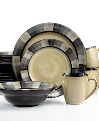 Gourmet Basics by Mikasa Horizon Grey 16-Pc. Set, Service for 4