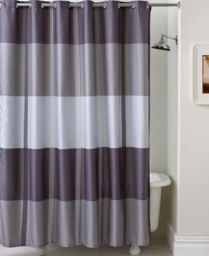 Martha Stewart Collection Bath Accessories, Encore Stripe Shower Curtain