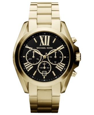 Michael Kors Watch Womens Chronograph Bradshaw Gold-Tone Stainless Steel Bracelet 43mm MK5739 - First Macys