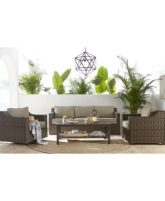 Camden Outdoor Wicker 3-Pc. Seating Set (2 Chaise Lounges & 1 End Table), Created for Macy's