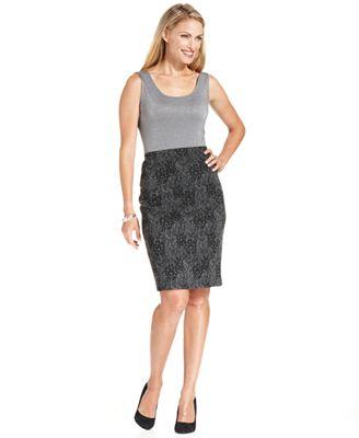 charter club tank top printed pencil skirt macy s