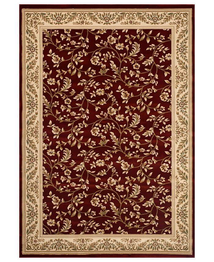 "Kenneth Mink - Area Rug, Princeton Floral Red 7'10"" x 10'2"""