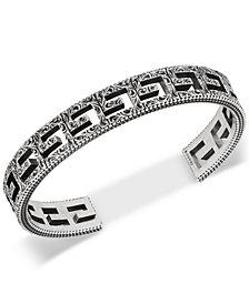 Gucci Openwork G Logo Cuff Bracelet in Sterling Silver