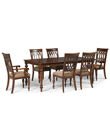 Crestwood Dining Room Furniture 7 Piece Set Dining Table 4 Side Chairs And