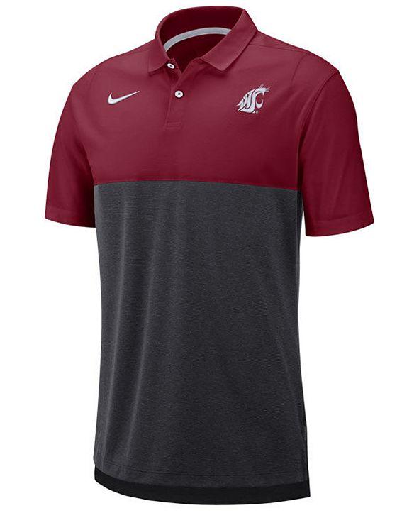Nike Men's Washington State Cougars Dri-Fit Colorblock Breathe Polo