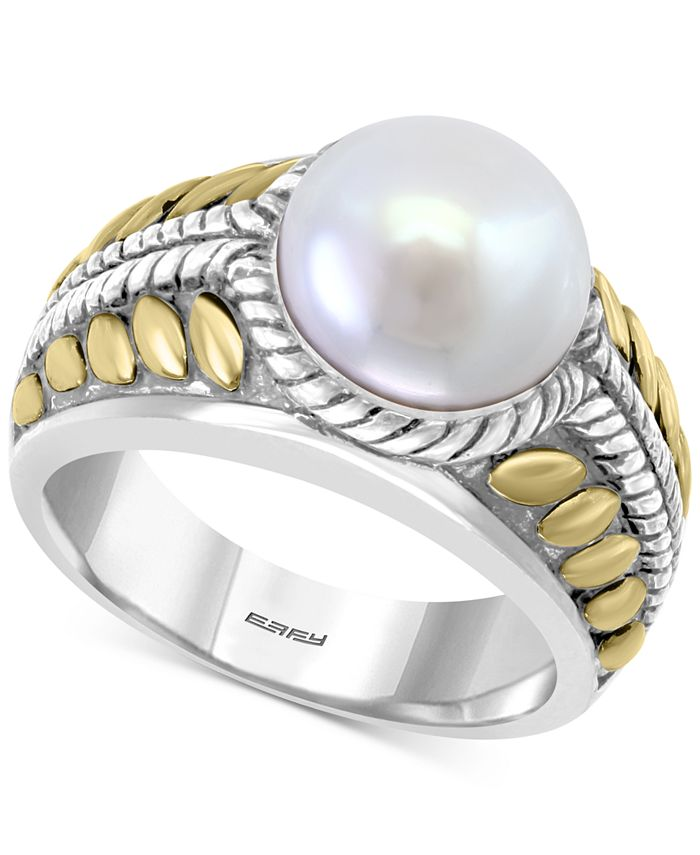EFFY Collection - Cultured Freshwater Pearl (10mm) Two-Tone Statement Ring