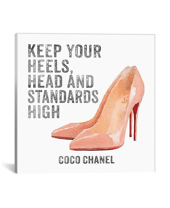 "iCanvas Keep Your Heels, Head and Standards High I by Amanda Greenwood Gallery-Wrapped Canvas Print - 37"" x 37"" x 0.75"""