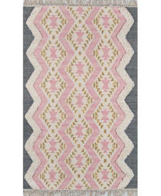 Indio Ind-1 Pink 3' x 5' Area Rug
