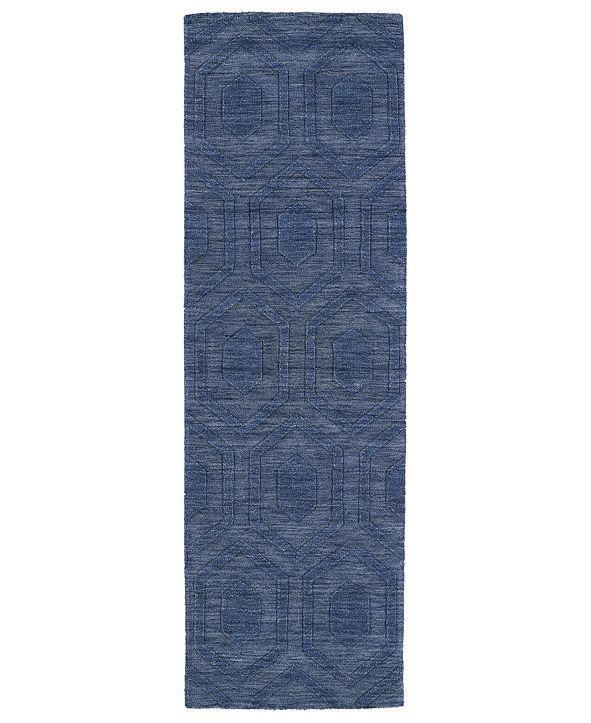 """Kaleen Imprints Modern IPM01-17 Blue 2'6"""" x 8' Runner Rug"""