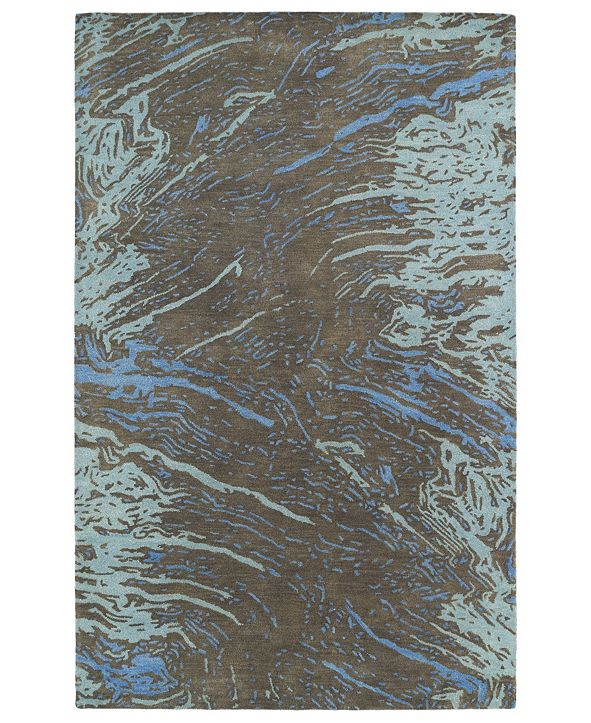"Kaleen Brushstrokes BRS01-40 Chocolate 5' x 7'9"" Area Rug"