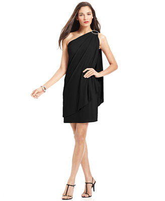 Sale alerts for  JS Boutique One-Shoulder Draped Dress - Covvet