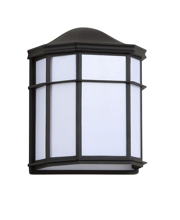 """JONATHAN Y Henry 9.7"""" Outdoor Frosted Acrylic/Metal Integrated LED Sconce"""