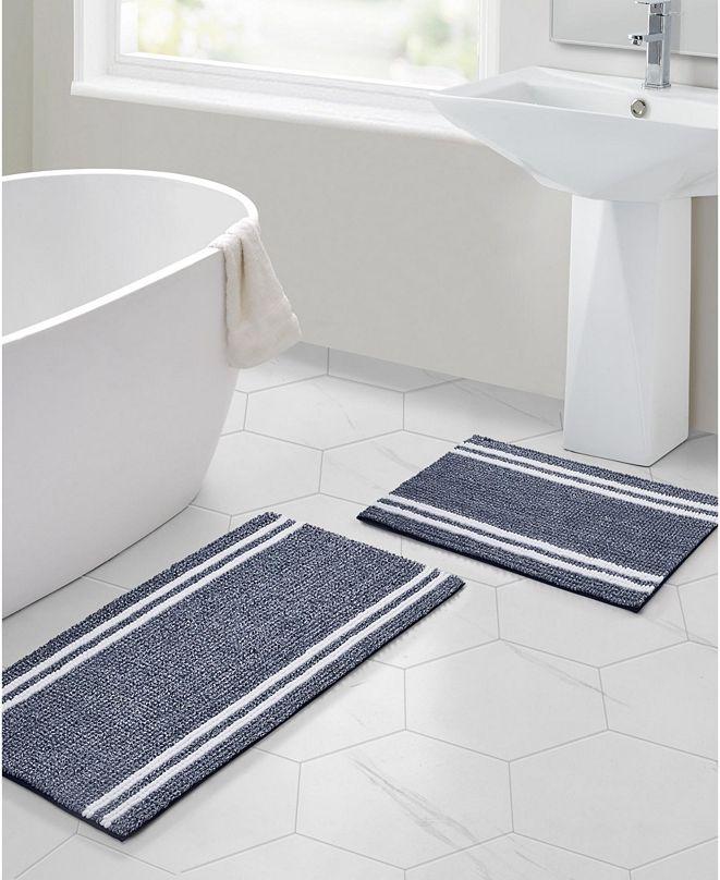 VCNY Home Stripe Noodle Bath Rug Collection