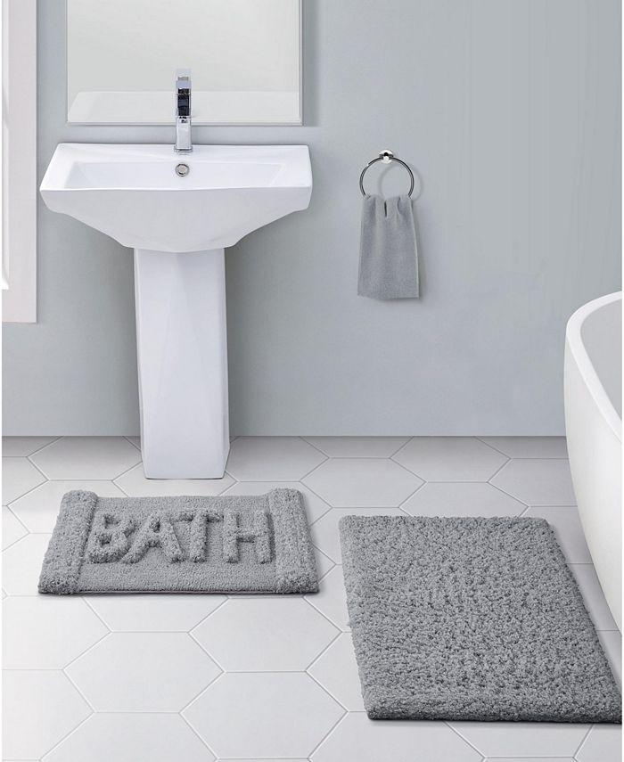 Vcny Home Heathered 2 Pc Bath Rug Set Reviews Bath Rugs Bath Mats Bed Bath Macy S