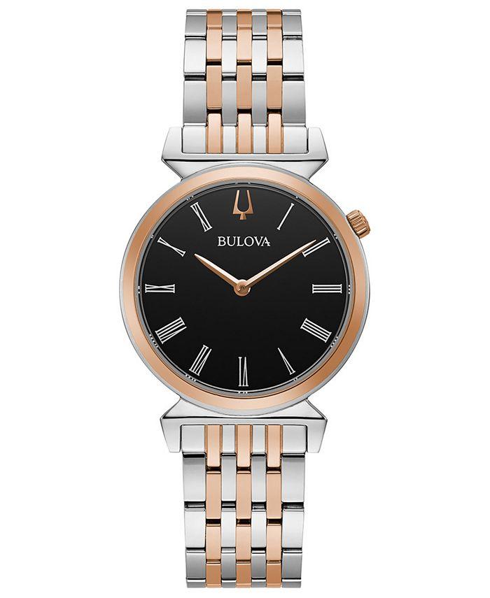Bulova - Women's Regatta Two-Tone Stainless Steel Bracelet Watch 30mm