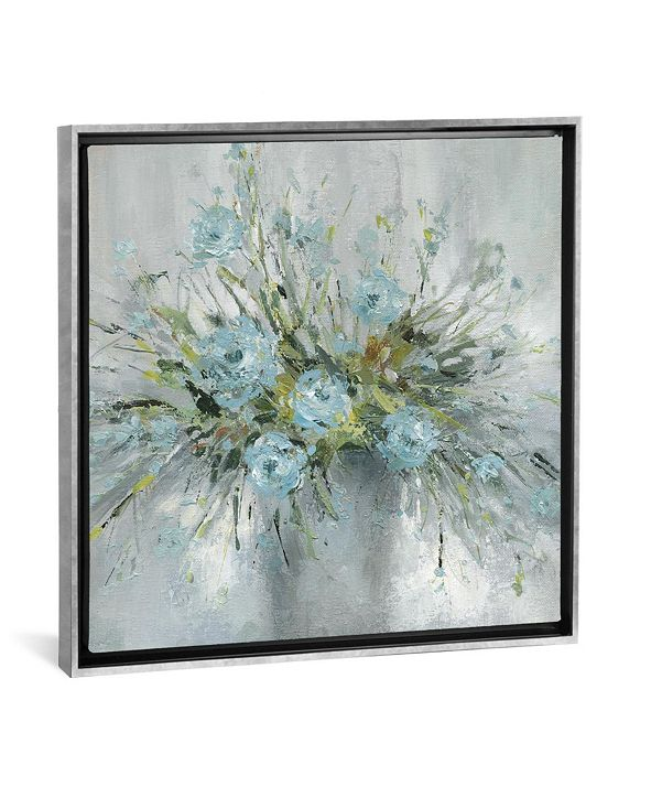 "iCanvas Blue Bouquet Iii by Carol Robinson Gallery-Wrapped Canvas Print - 26"" x 26"" x 0.75"""