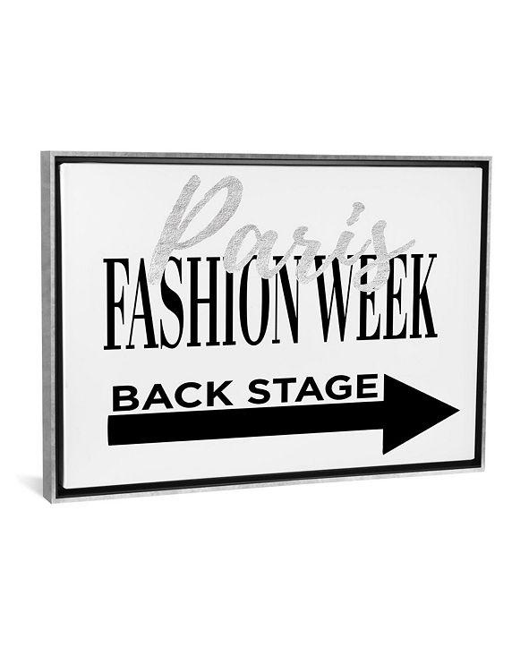 "iCanvas Fashion Week Paris Silver by Amanda Greenwood Gallery-Wrapped Canvas Print - 18"" x 26"" x 0.75"""