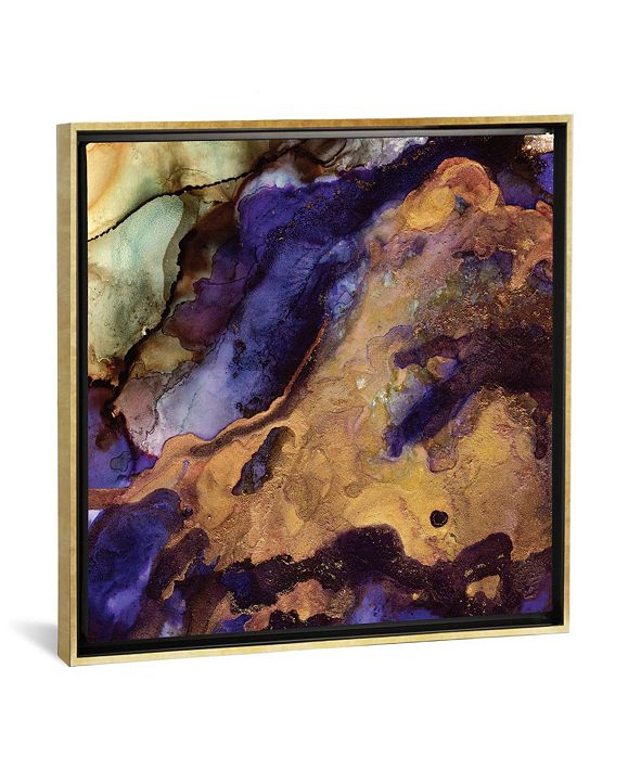 "iCanvas Purple and Gold Abstract by Spacefrog Designs Gallery-Wrapped Canvas Print - 18"" x 18"" x 0.75"""