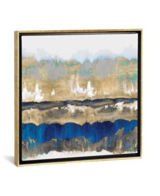 "Gradations in Blue and Gold by Rachel Springer Gallery-Wrapped Canvas Print - 26"" x 26"" x 0.75"""