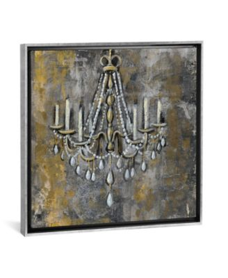 "Vintage Chandelier Ii by Silvia Vassileva Gallery-Wrapped Canvas Print - 18"" x 18"" x 0.75"""