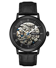 Kenneth Cole New York Men's Black Strap Watch 43.5MM