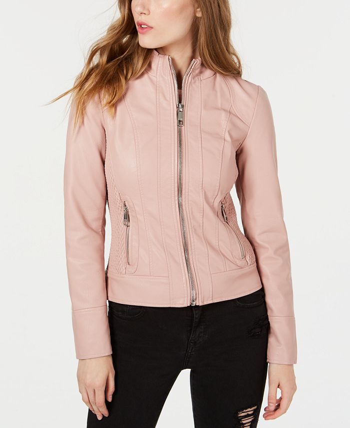 GUESS - Faux-Leather Jacket