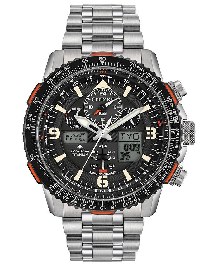 Citizen - Men's Analog-Digital Promaster Skyhawk A-T Stainless Steel Bracelet Watch 45mm