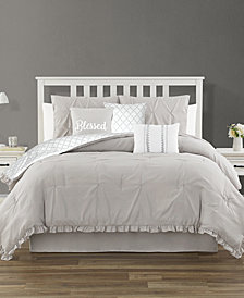 Jessica Sanders Ruffled 7 Piece Queen Comforter Set