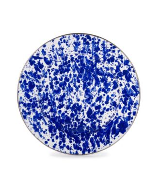 """Cobalt Swirl Enamelware Collection 12.5"""" Charger Plate"""