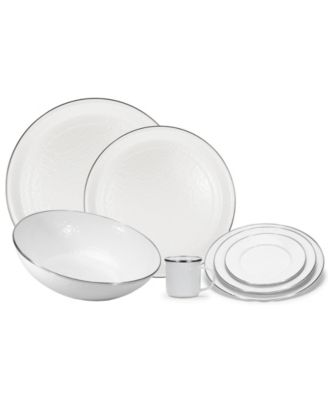 Solid White Enamelware Collection 16