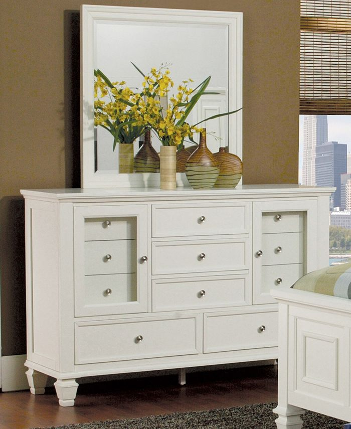 Macy's - Sandy Beach 11-Drawer Dresser White