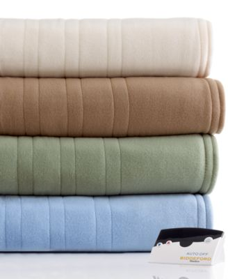 CLOSEOUT! Biddeford Comfort Knit Fleece Heated Queen Blanket