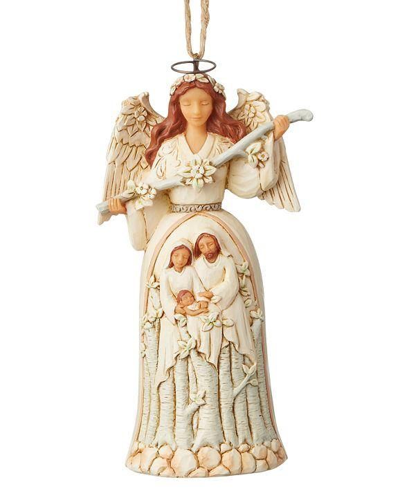 Enesco Jim Shore White Woodland Nativity Angel Ornament