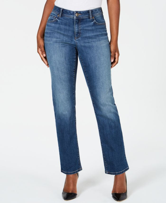 INC International Concepts INC Curvy-Fit Straight-Leg Jeans with Tummy Control, Created for Macy's  & Reviews - Jeans - Women - Macy's