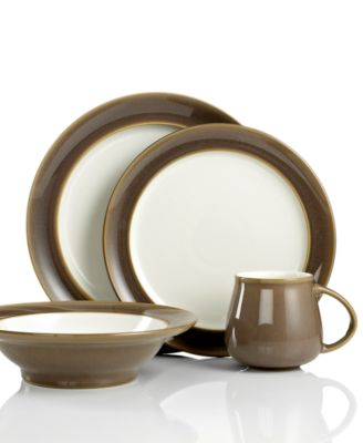 Denby Dinnerware, Truffle 4-Piece Place Setting