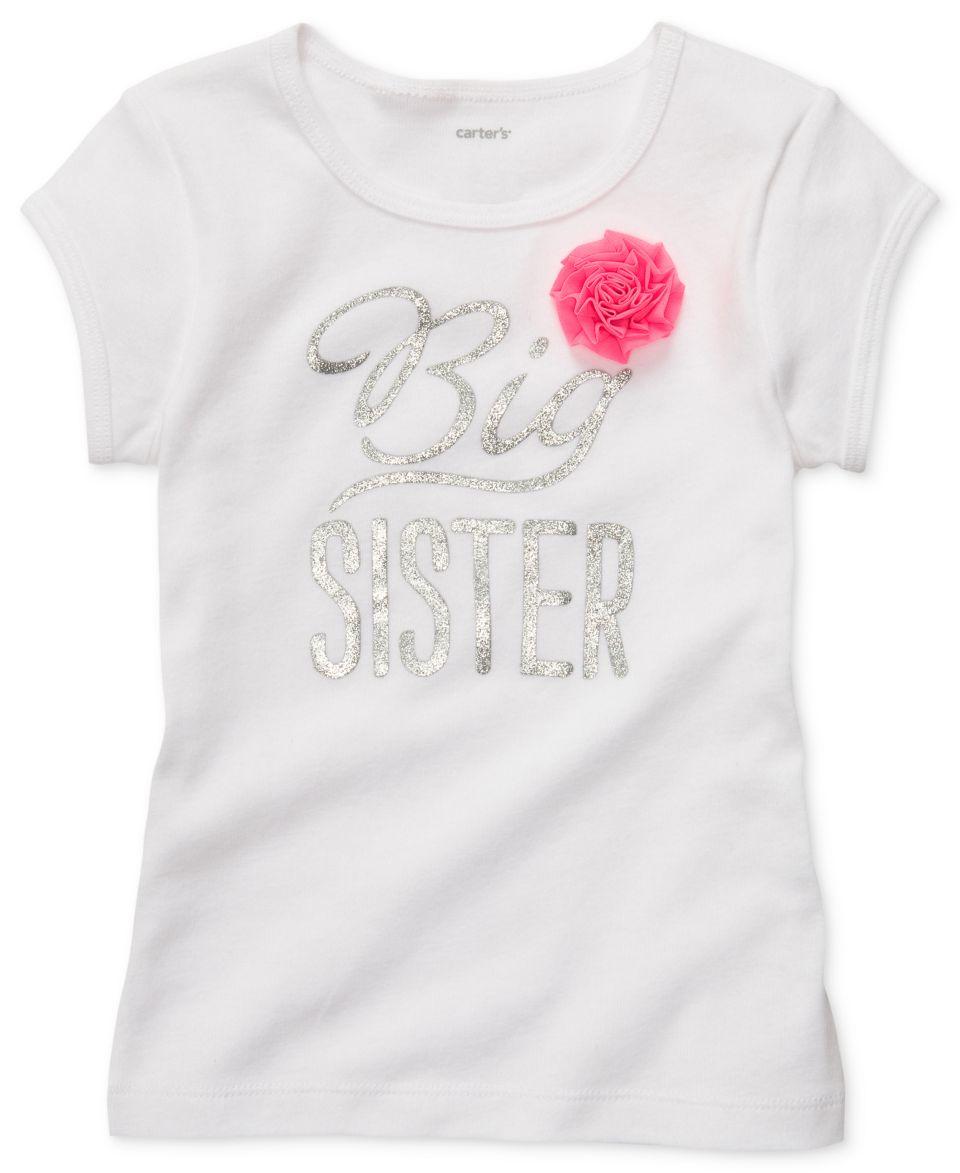 Carters Kids Shirt, Little Girls Flower Sister Tee
