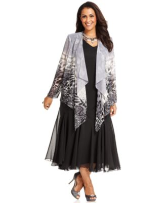 Plus size dresses with jackets
