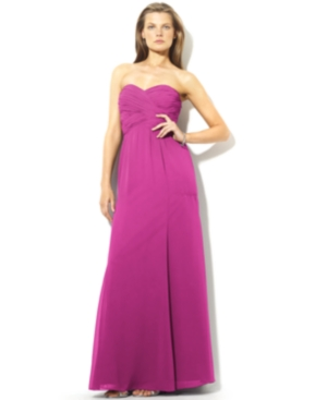 Buy macys & suits - Lauren by Ralph Lauren Dress, Strapless Evening Gown