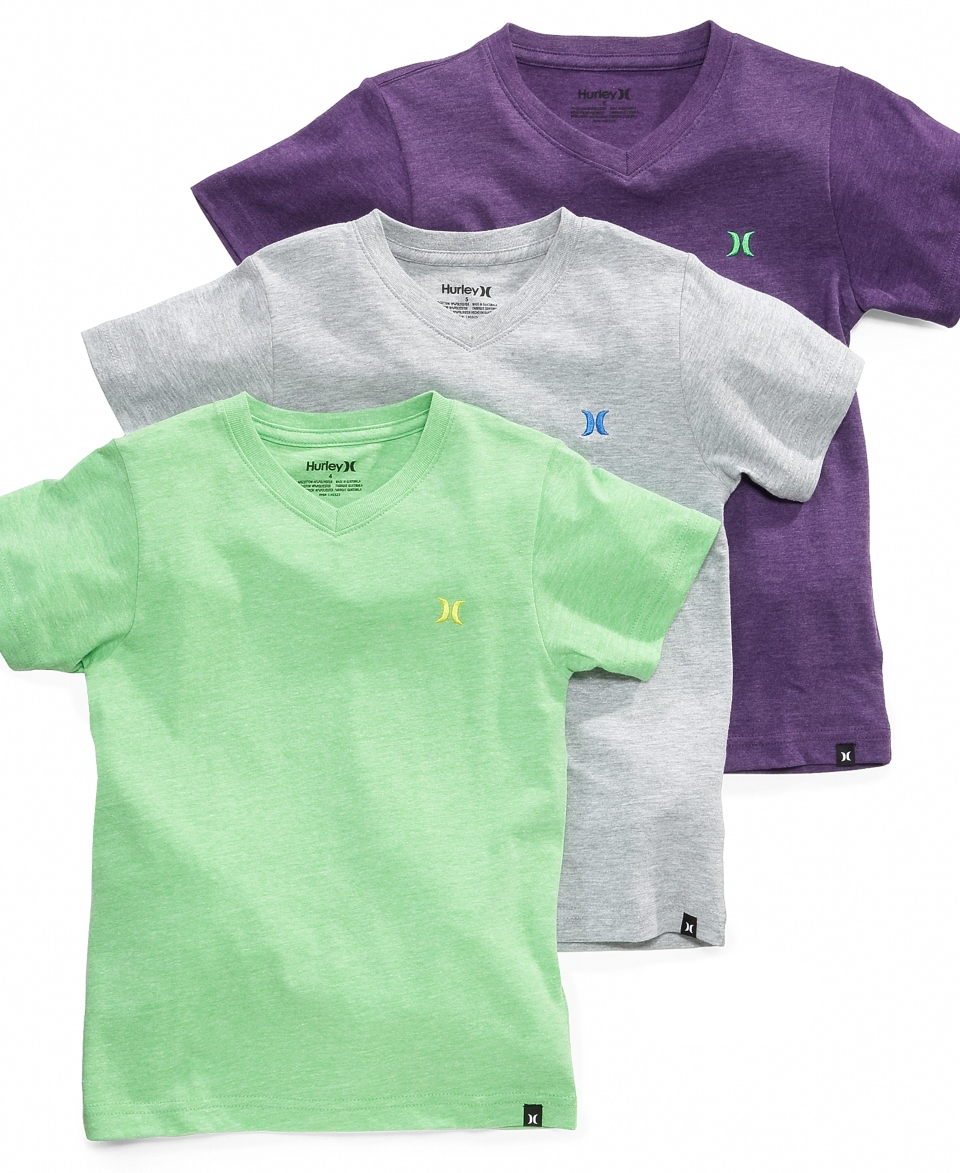 Hurley Kids Shirt, Boys Heathered V Neck Tee   Kids Boys 8 20