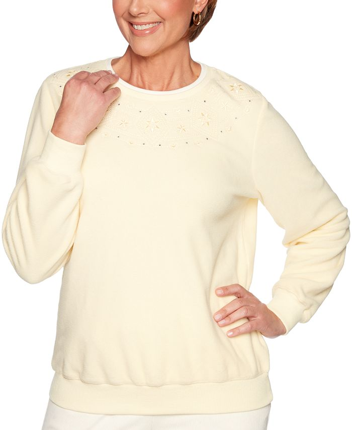Alfred Dunner - Classics Embroidered-Yoke Top