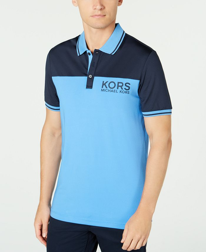Michael Kors - Men's Performance Stretch Golf Colorblock Logo Polo Shirt