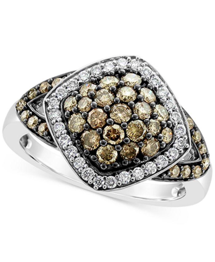 Le Vian - Chocolate Diamond (3/4 ct. t.w.) & Vanilla Diamond® (1/5 ct. t.w.) Ring in 14k White Gold