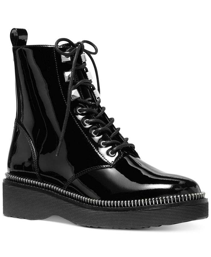 Michael Kors - Patent Leather Haskell Combat Boot